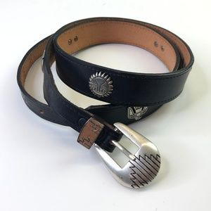 Vintage Western Belt Indian Womens 40 Leather